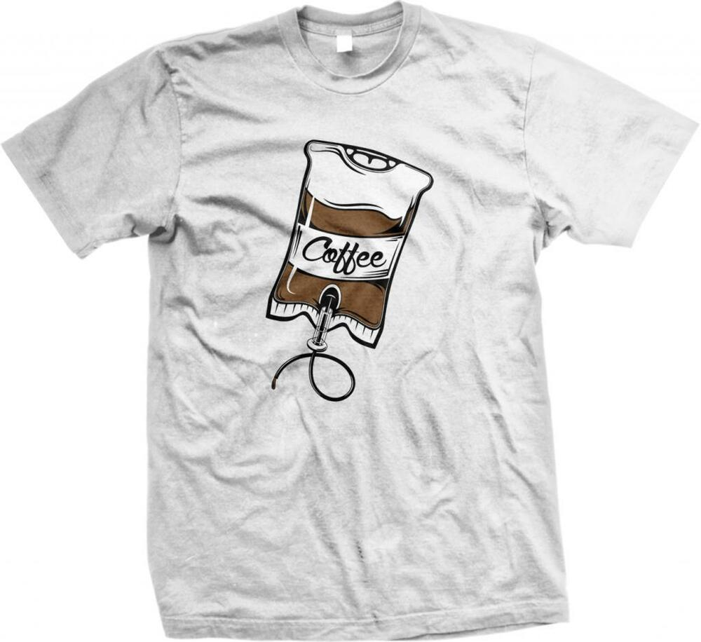 Coffee iv drip coffee lover addict caffeine perk up for How to get coffee out of shirt