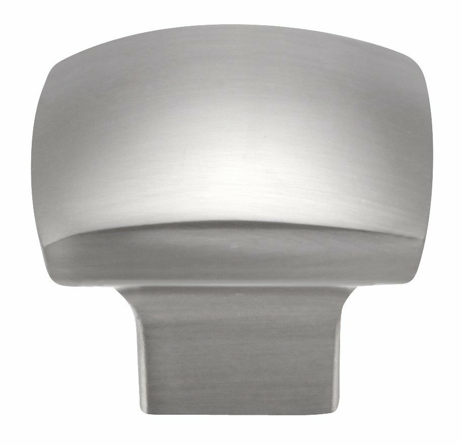 Square brushed nickel kitchen cabinet knob drawer knob for Square kitchen cabinet knobs