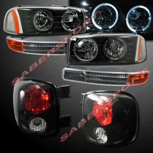 black-halo-headlights-park-signal-taillights-for-9904-sierra-stepside-only