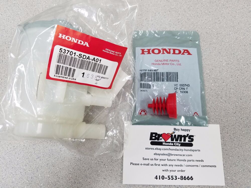 genuine honda accord power steering fluid tank reservoir  cap   accord ebay