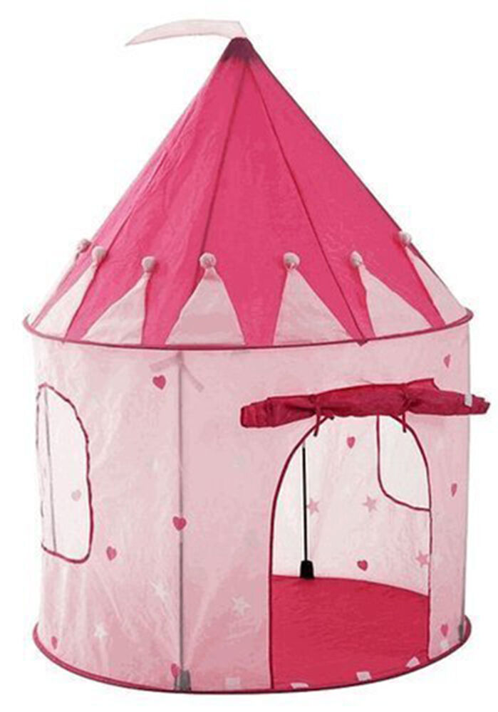 play tent childs pink princess castle kids play house girl fairy house new 3 up ebay. Black Bedroom Furniture Sets. Home Design Ideas