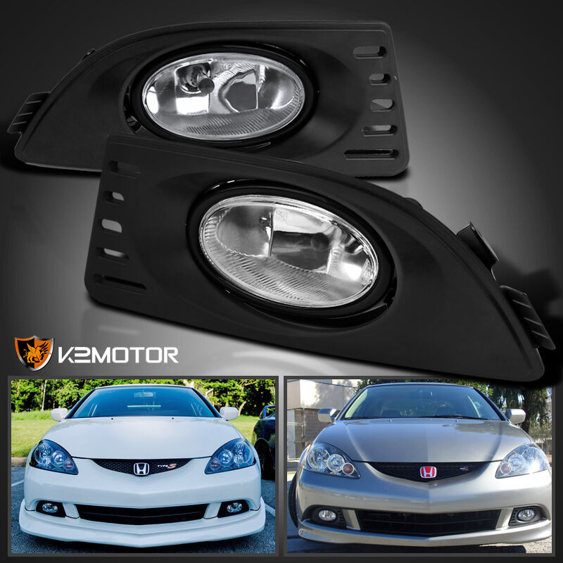 2005 2007 acura rsx clear bumper driving fog lights w switch left. Black Bedroom Furniture Sets. Home Design Ideas