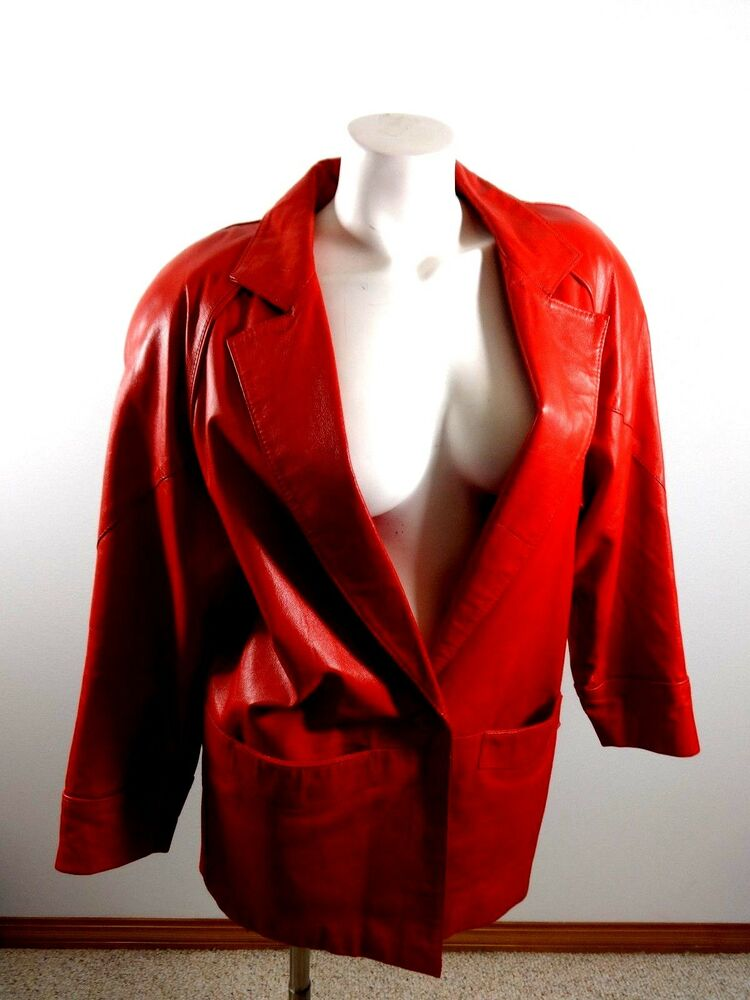 Bagatelle Womens Retro Style Red Leather Jacket Womens