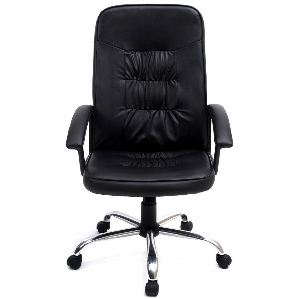 black high back executive office pu leather task ergonomic
