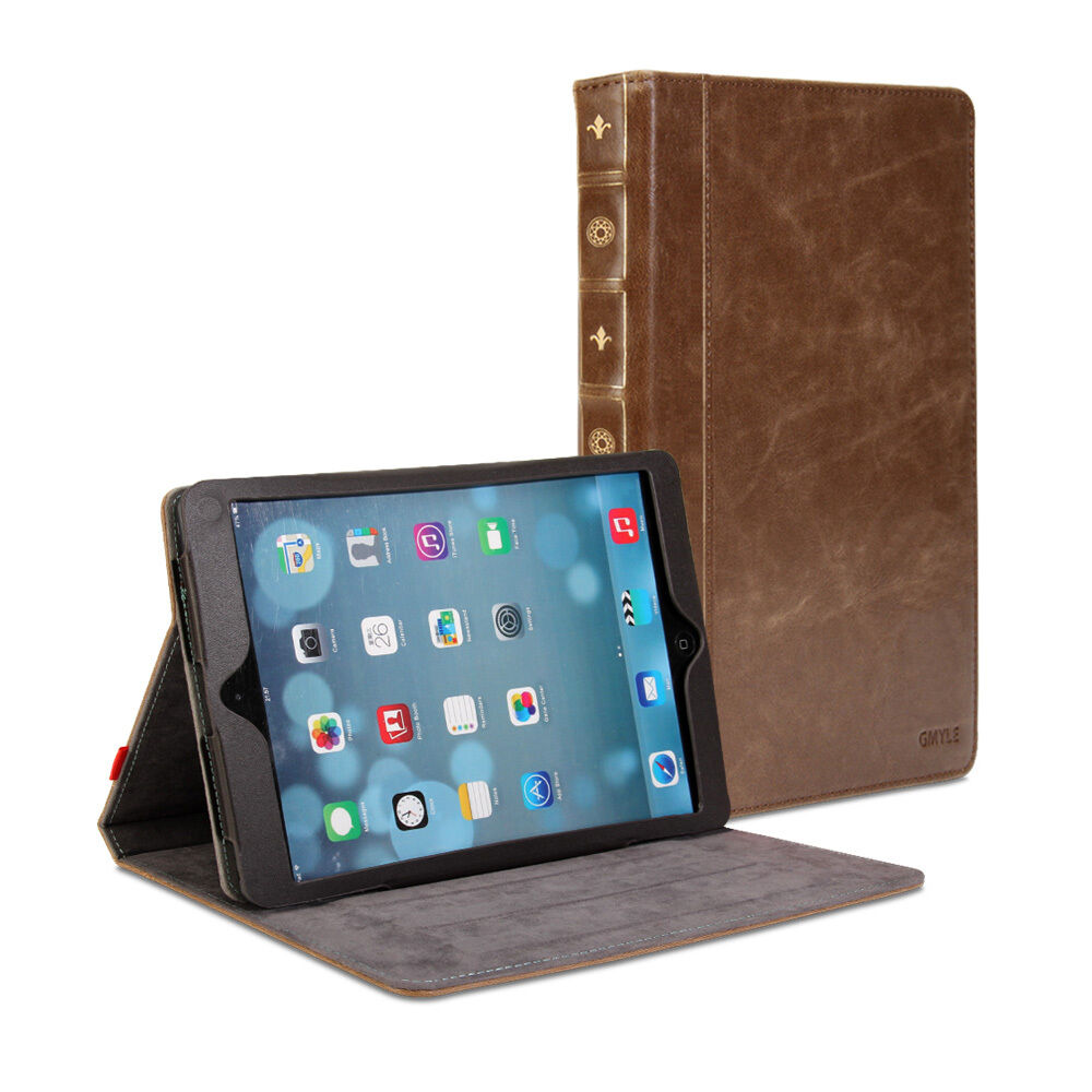 Ipad Air Classic Book Cover : Ipad air case gmyle book vintage brown ebay