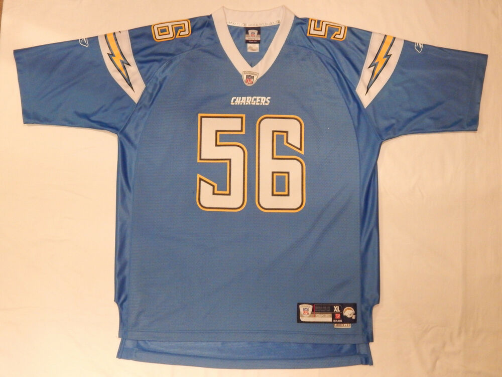f92803783 Details about SAN DIEGO CHARGERS NFL FOOTBALL 56 SHAWNE MERRIMAN REEBOK  JERSEY SIZE XL NOTWORN