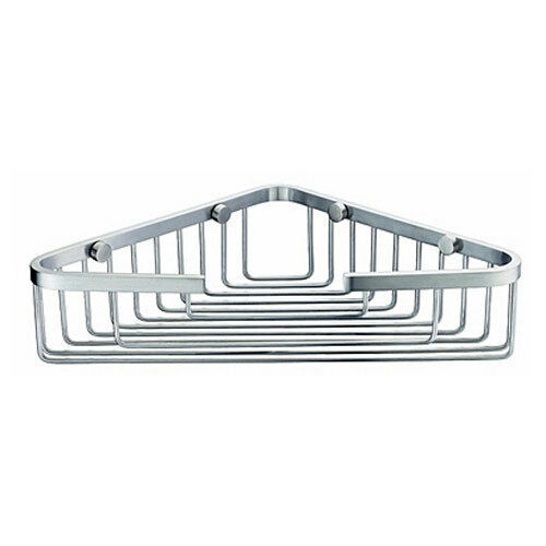 Bathroom accessories shower single corner wire basket stainless steel ebay for Stainless steel bathroom accessories