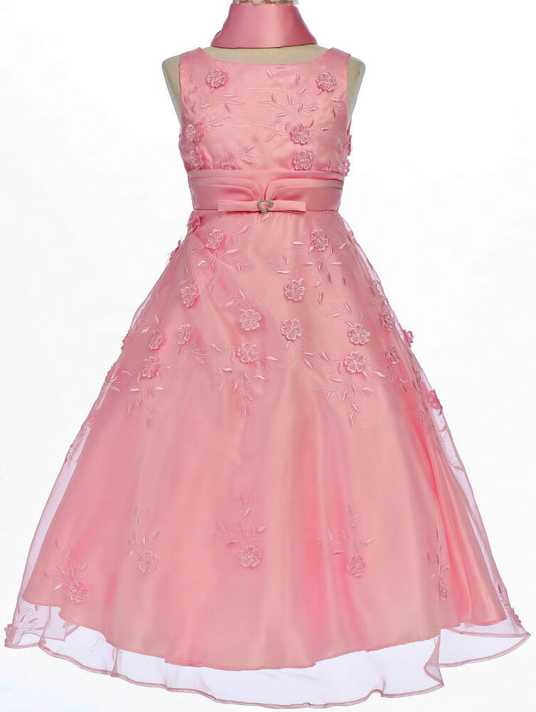Pageant prom party wedding holiday formal dress 10 12 14 pink ebay