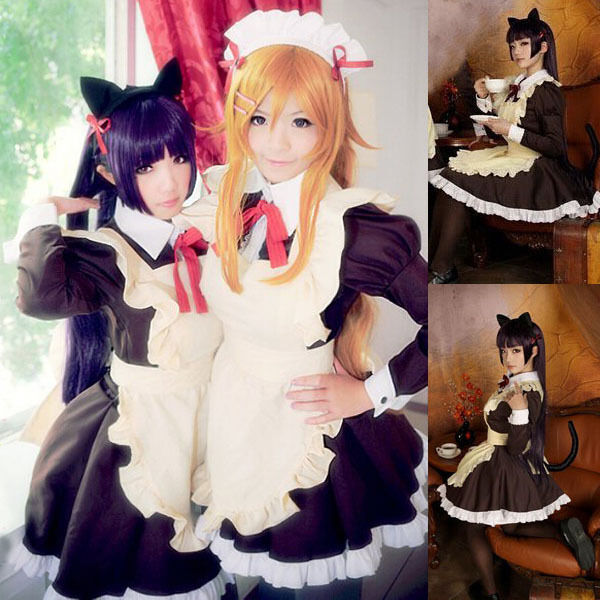 Womens Girls Sexy Anime Catu0026#39;s Tail Cosplay Maid Waitress Dress Uniform Costume | eBay