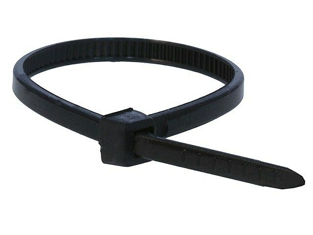 Black Wire Ties : Pack inch nylon zip cable ties wire tie wraps black