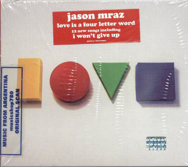 love is a four letter word jason mraz is a four letter word sealed cd new 2012 11458 | s l1000