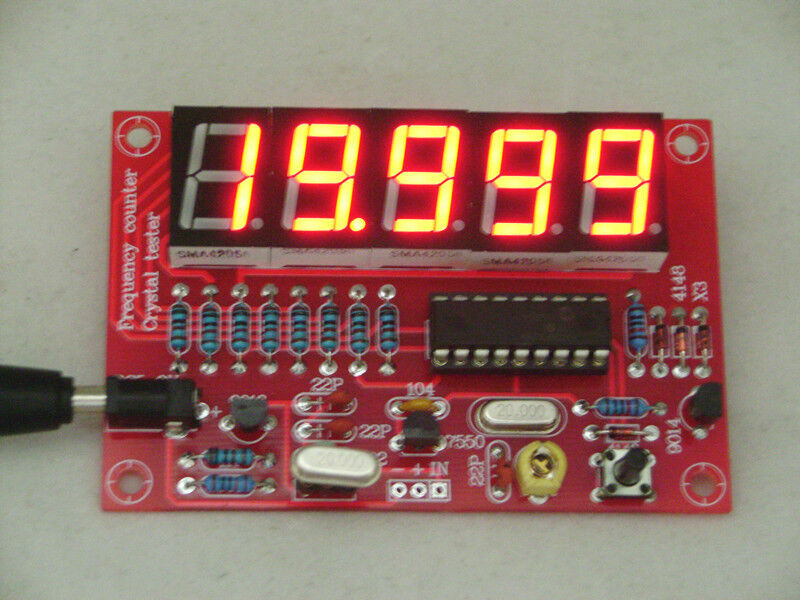 Diy Frequency Counter : Hz mhz crystal oscillator frequency counter meter