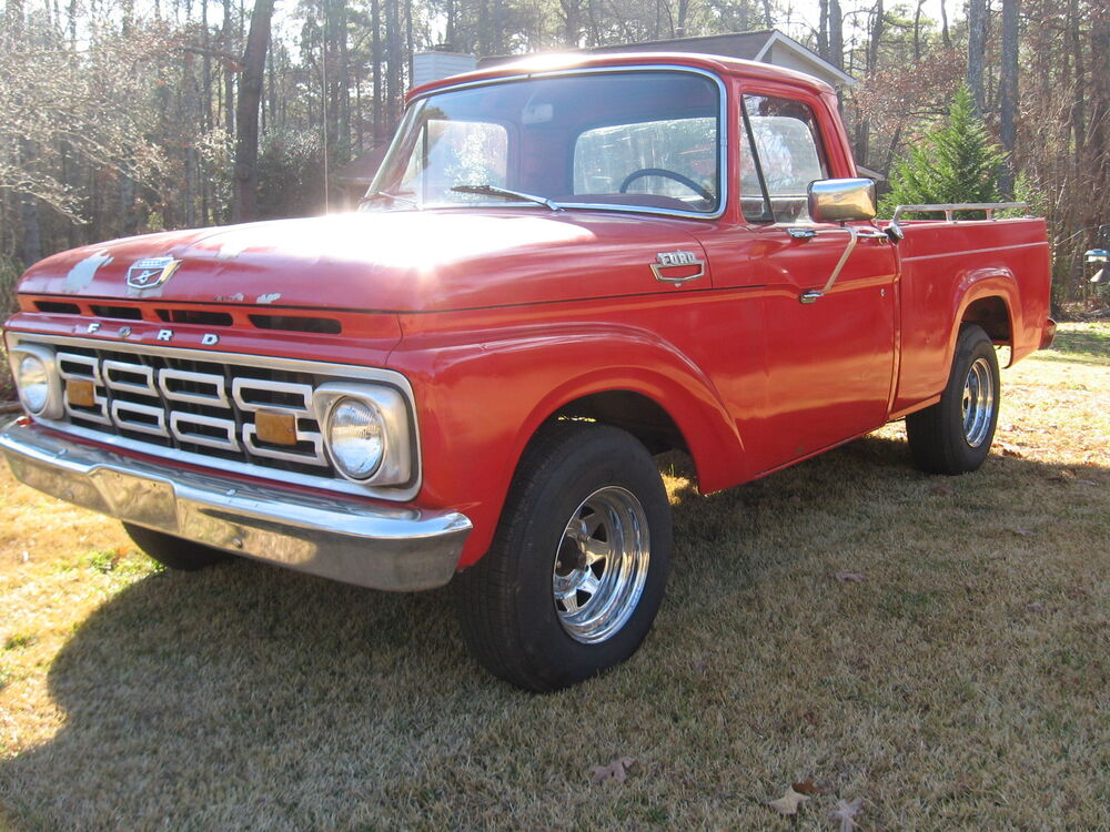 Very Solid 1963 Ford F100 Short Bed 292 V8 Awesome Original Truck Ebay