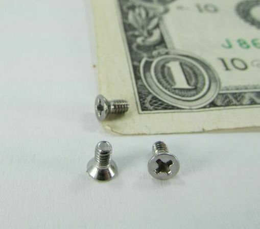 Lot 300 Tiny 2 56 Stainless Steel Screws Phillips Flat