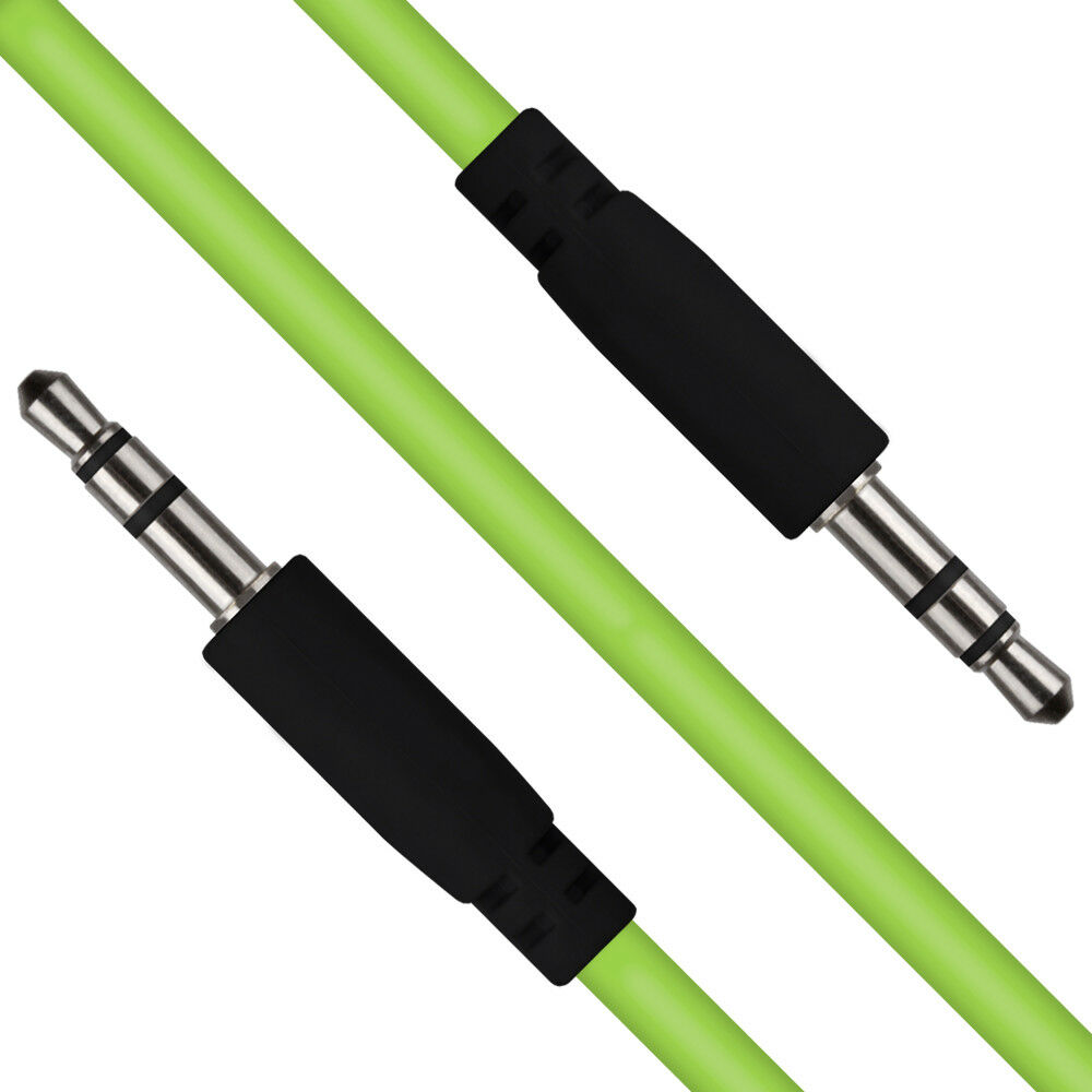 Green 35mm Stereo Jack To Audio Headphone Aux Cable Sound Lead 3 5mm Wiring Wire Cord Ebay