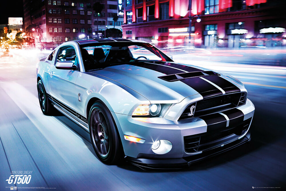 SHELBY MUSTANG GT500 - 2014 POSTER 24x36 - SPORTS CAR FORD 33949 | eBay