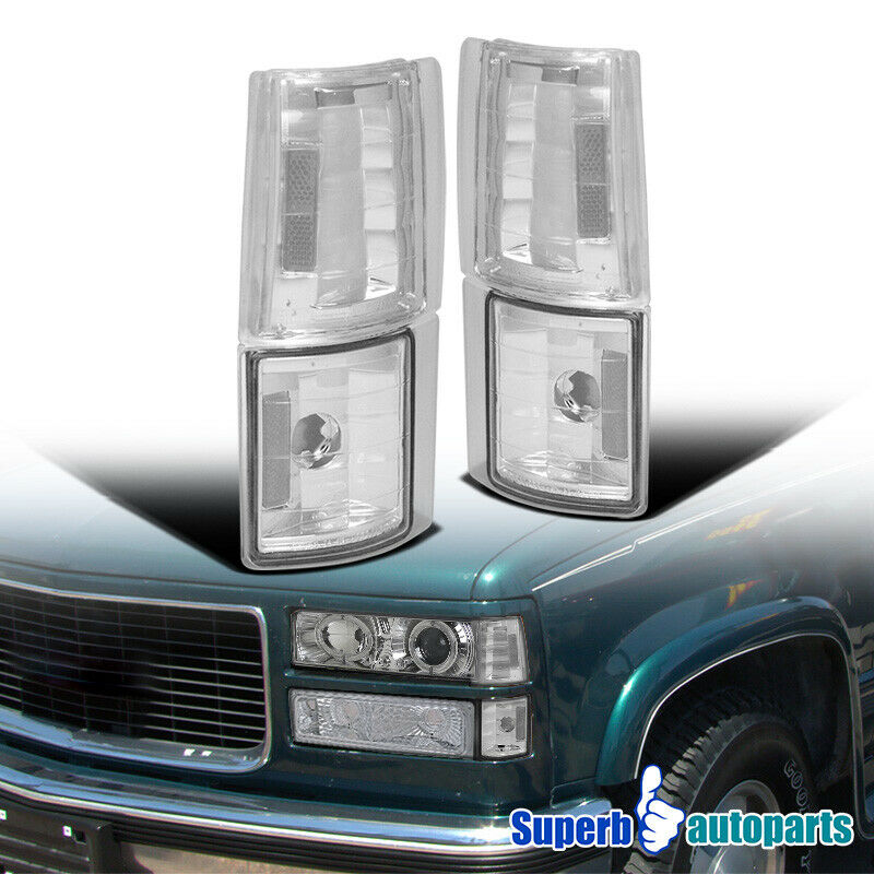 1994 1998 Gmc C10 Sierra Suburban Chrome Corner Lights 4pc