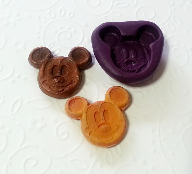 Silicone Mold Mickey Mouse Pancake 26mm Candy Chocolate
