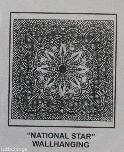 Antique Tea Dye Pre Printed Wholecloth Quilt Top National Star 40 Quot X40 Quot Ebay