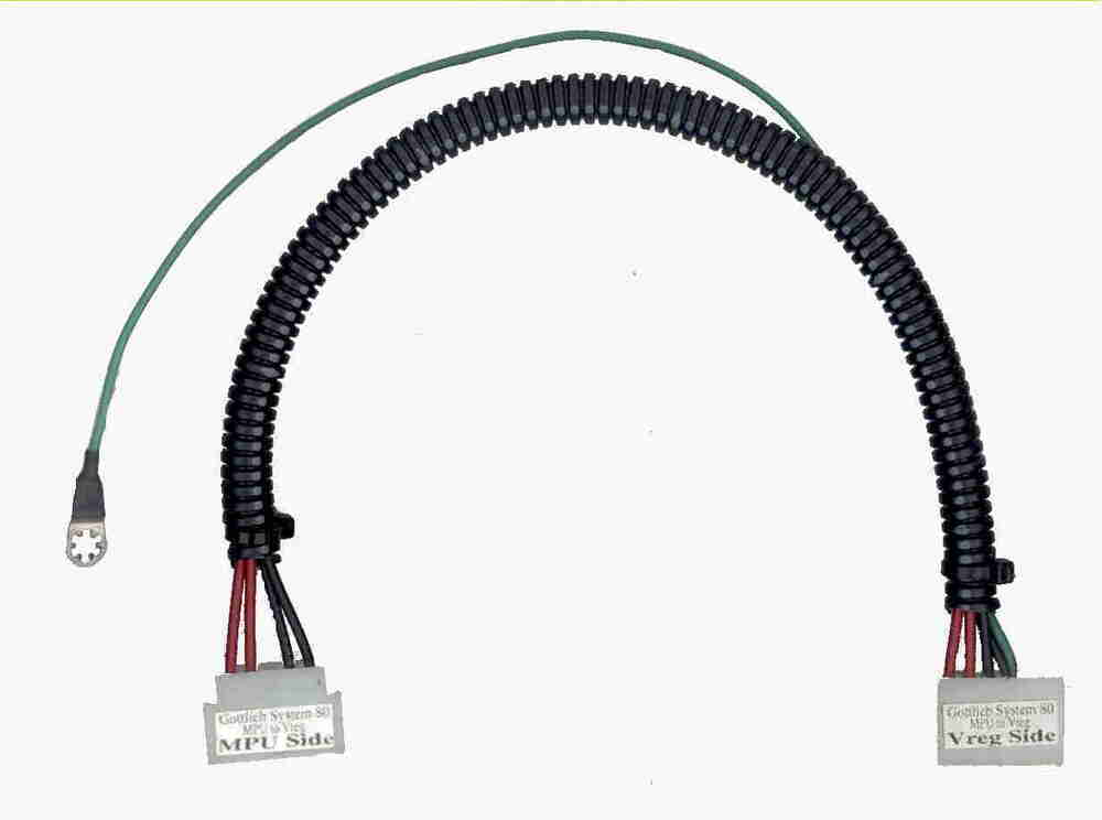 new grounded  gottlieb pinball power cable    harness