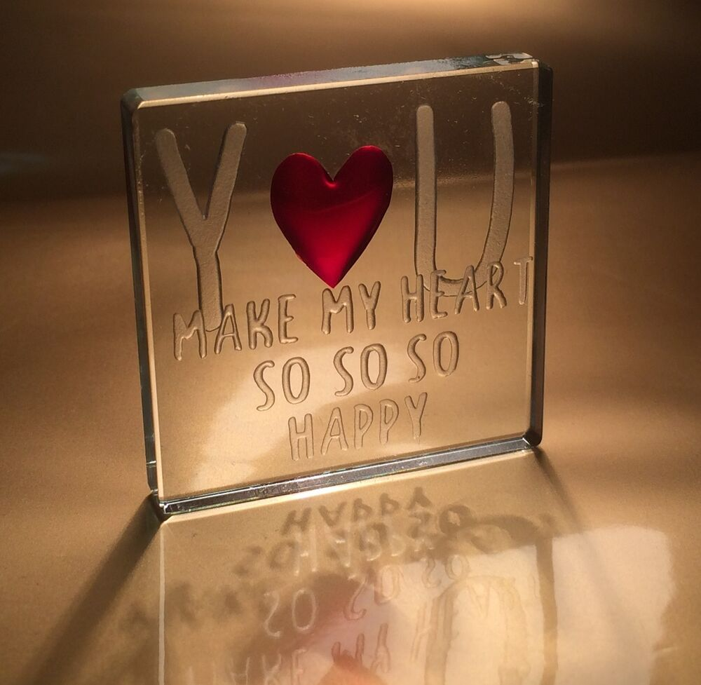 Spaceform you make my heart so happy romantic love gift for Valentines day ideas for her romantic