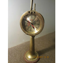MARITIME REPLICA BRASS SHIP'S TELEGRAPH CLOCK