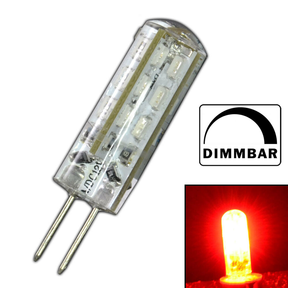 g4 led 1 5 watt rot rotlicht dimmbar 12v dc dimmer lampe gl hbirne birne ebay. Black Bedroom Furniture Sets. Home Design Ideas