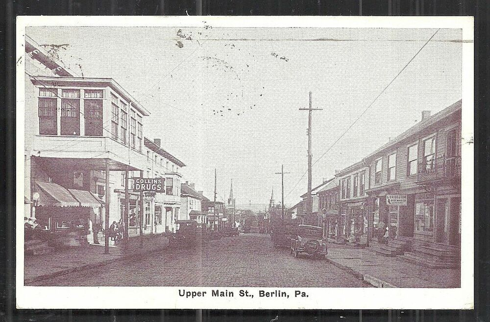 berlin upper main street cars shops pa pennsylvania 1929 ebay. Black Bedroom Furniture Sets. Home Design Ideas