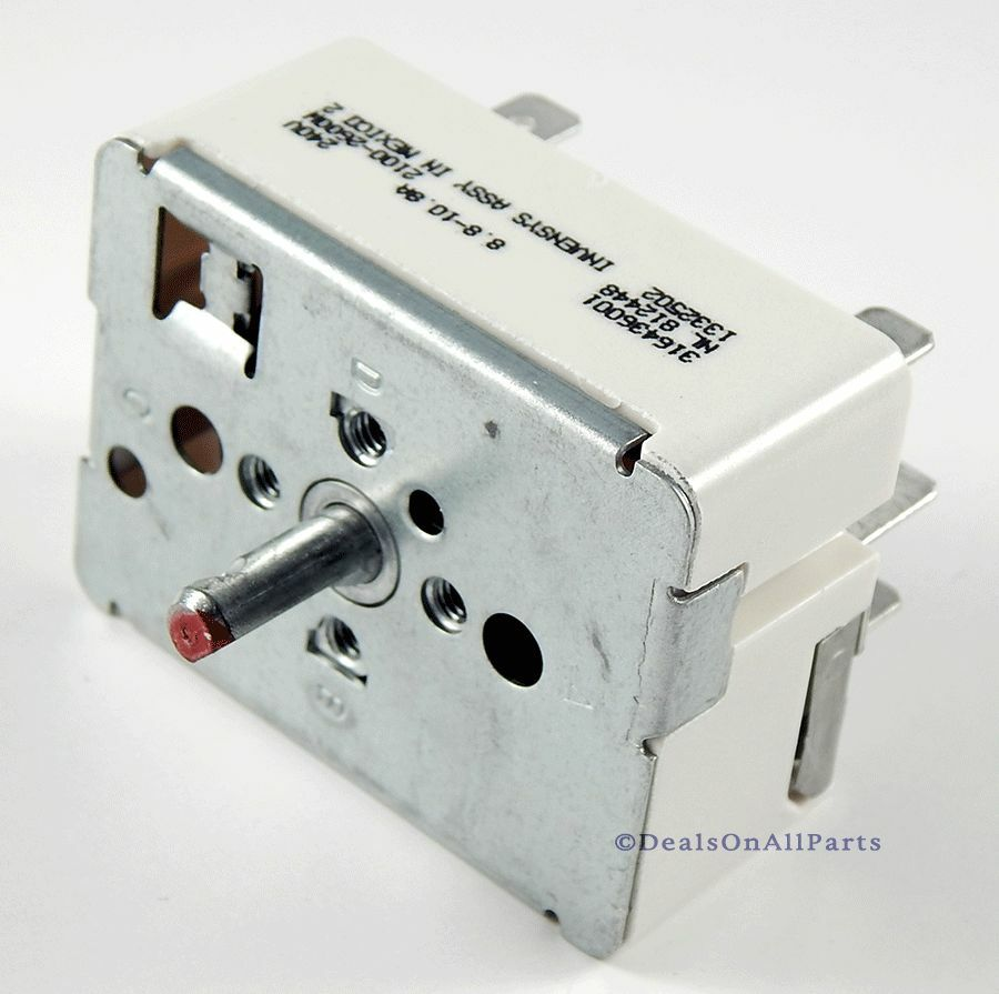 Surface Element Switch for Frigidaire Oven Range