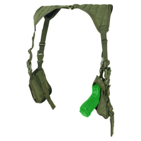 img-CONDOR MILITARY VERTICAL PISTOL SHOULDER HOLSTER ARMY AIRSOFT MODULAR OLIVE DRAB