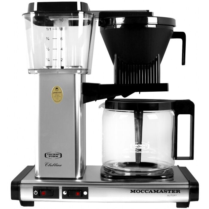 Technivorm Moccamaster Coffee Maker With Glass Carafe Brushed Silver : Technivorm Moccamaster KB 741 Polished Silver Coffee Maker 59616 - BRAND NEW! 8712072791121 eBay