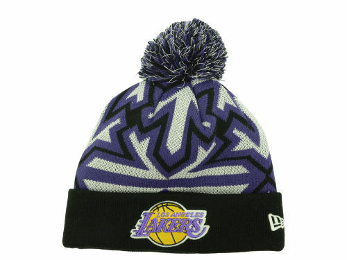 a71f941fb0d Details about Official 2014 NBA Los Angeles Lakers New Era Glowflake Knit  Beanie Hat