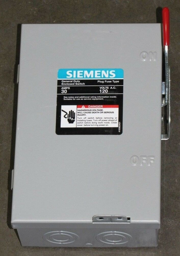 siemens lf111n 30a 30 a amp 120v type 1 unfused safety ... 120vac schematic wiring