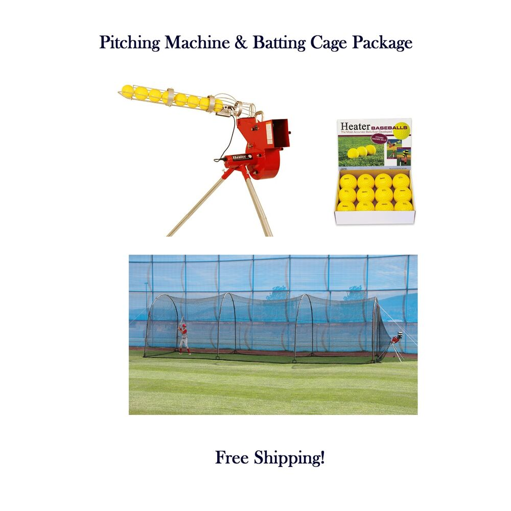 batting cages and pitching machine combo
