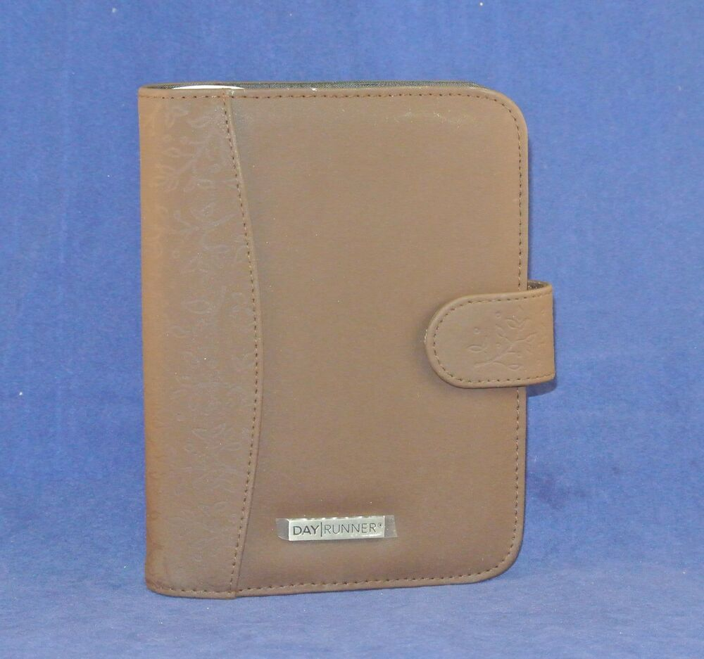 ... Brown Nylon Day Runner Planner Binder Fits Franklin Inserts | eBay