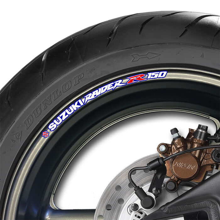 Raider 150 Fi Set Up: 8 X SUZUKI RAIDER 150 WHEEL RIM STICKERS - R -B