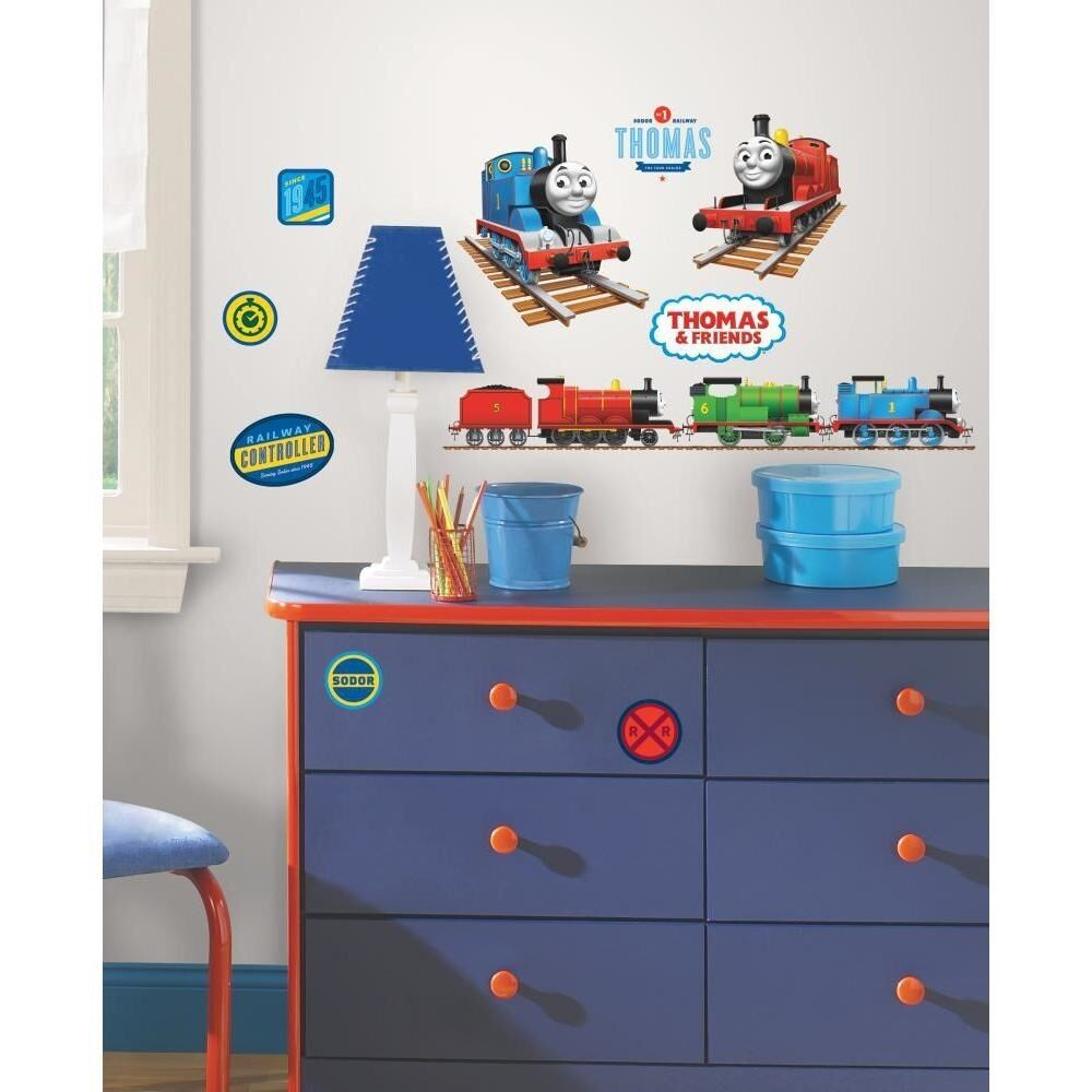 new thomas the train wall decals tank engine 33 stickers boys trains. Black Bedroom Furniture Sets. Home Design Ideas