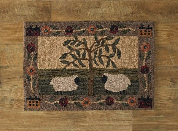 Willow And Sheep Hand Hooked Rug By Park Designs Ebay