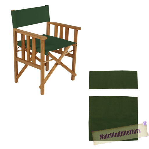 Green Director Chairs Replacement Polyurethane Coated