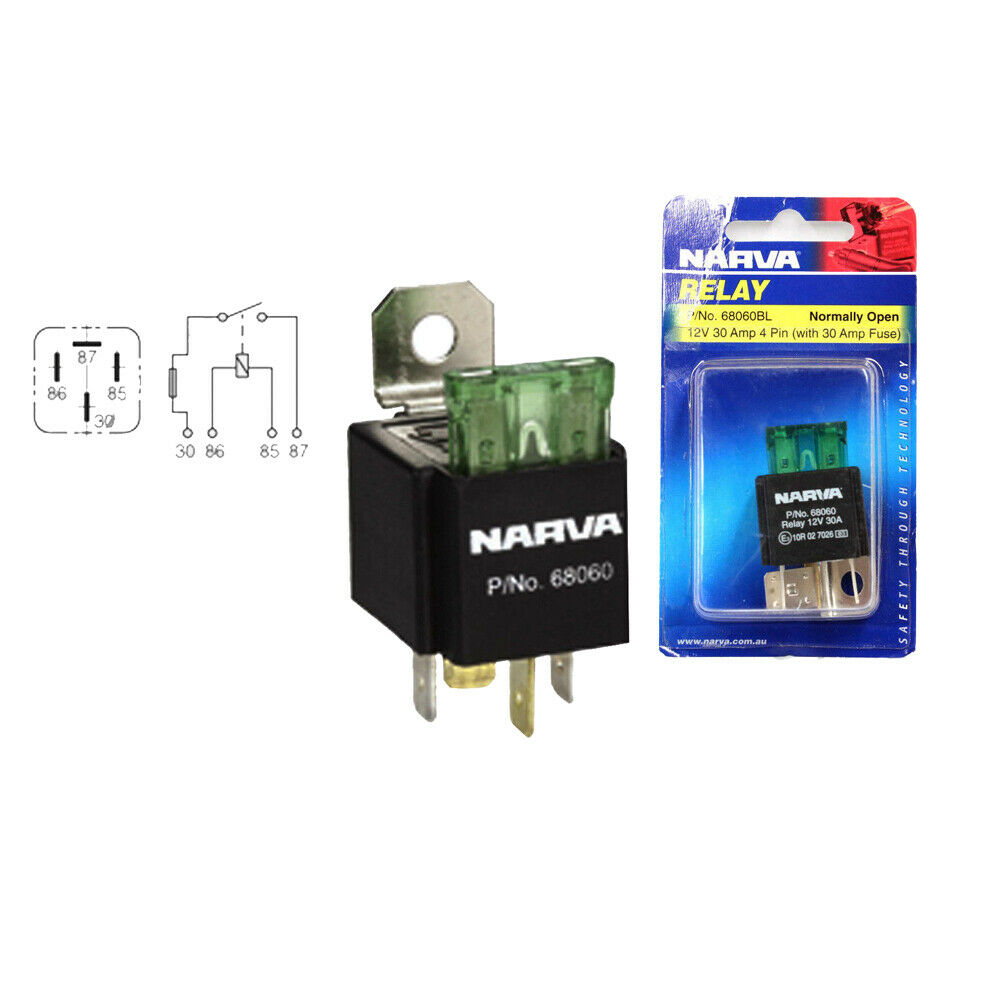 Narva 68060bl Electrical Relay - Fuse Protected