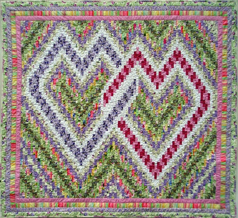 Quilt PATTERN Nancys Interlocking Bargello Hearts