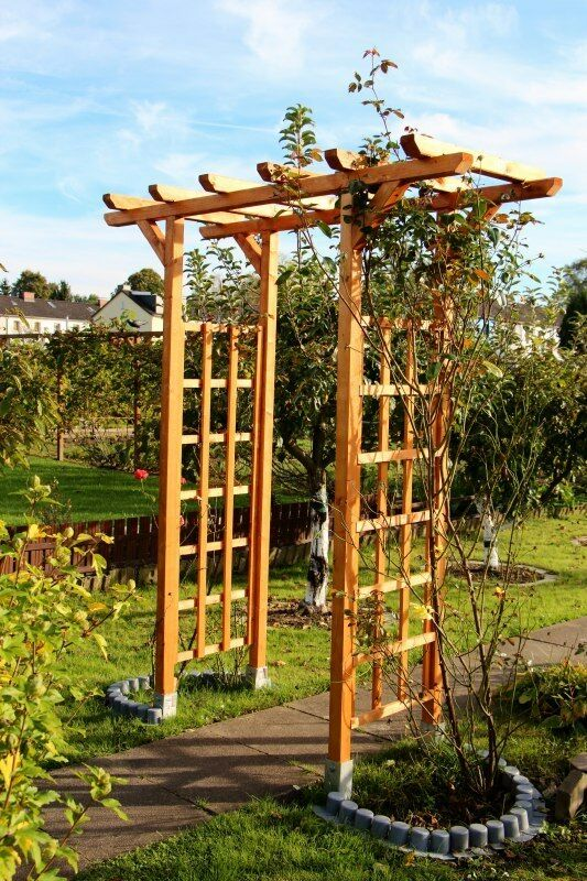 rosenbogen pergola spalier gartentor torbogen rankgitter bogen holz ebay. Black Bedroom Furniture Sets. Home Design Ideas