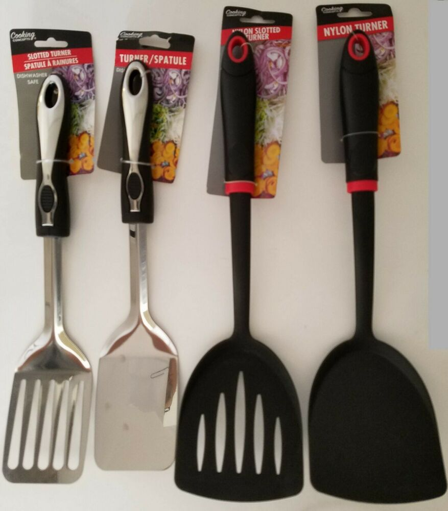 Kitchen Utensils Spatulas Turners Pancake Solid Slotted
