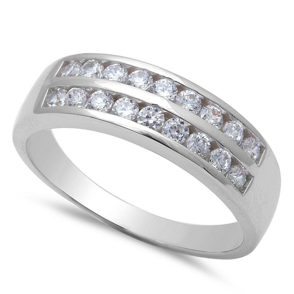 cubic zirconia engagement 925 sterling silver ring sizes 8 12 ebay