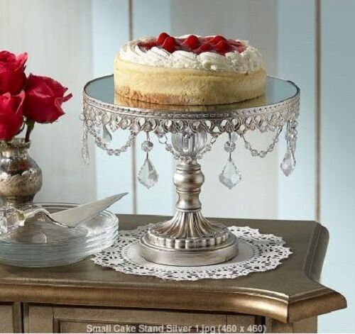 Silver Beaded Cake Stand