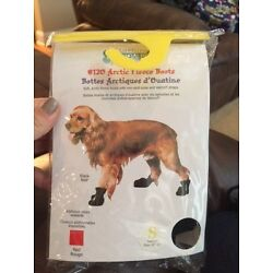 Fashion Pet Lookin Good Arctic Fleece Boots for Dogs Small Black