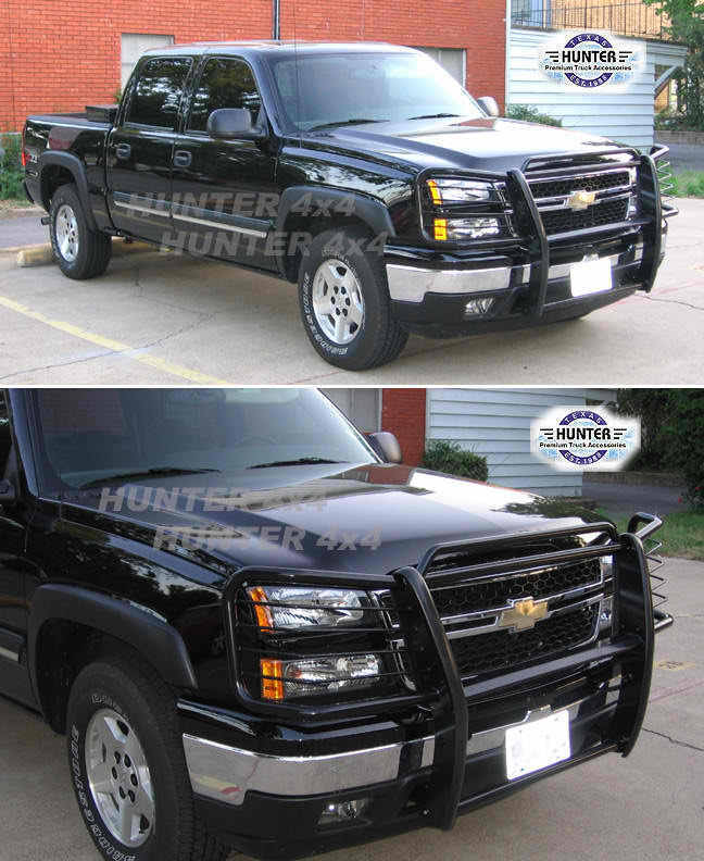 03 06 Silverado Avalanche 1500 W O Cladding Brush Grill