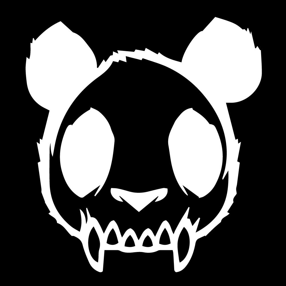 99 Skull Zombie Panda Evil Mad Dead Goth Decal Car