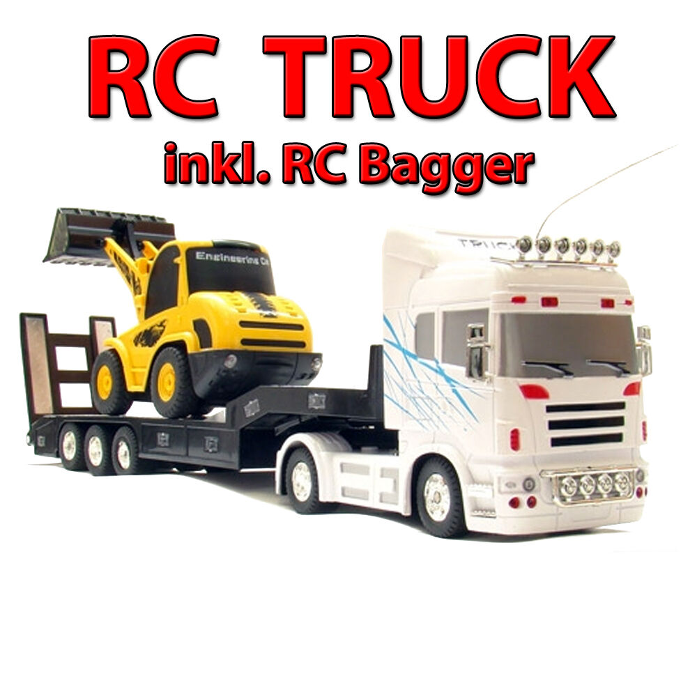 riesiger xxl truck rc ferngesteuerter lkw mit bagger. Black Bedroom Furniture Sets. Home Design Ideas