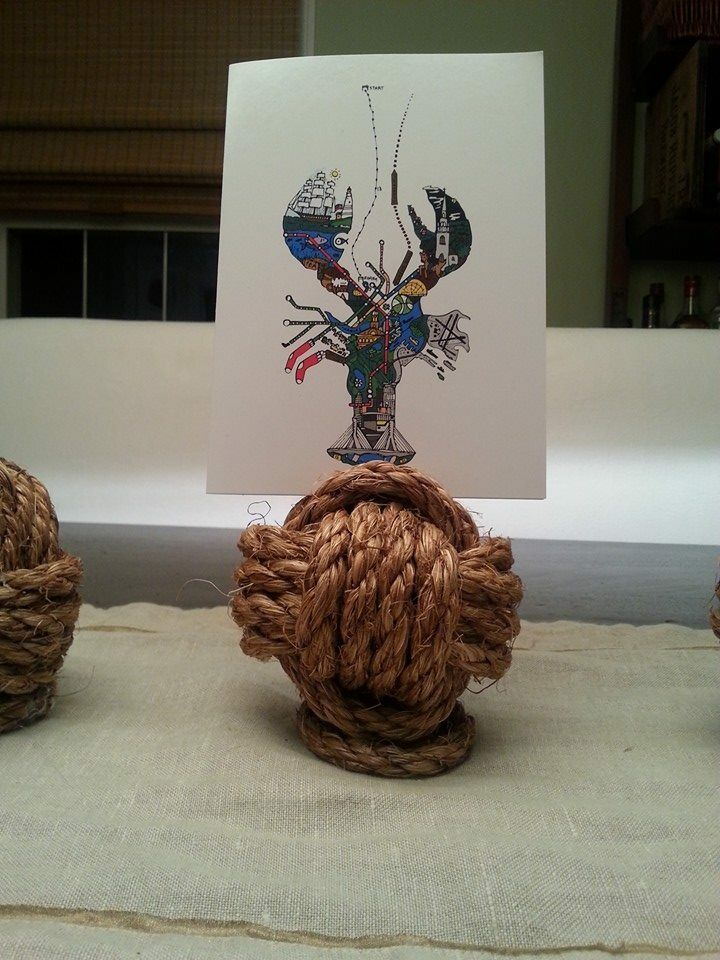 Nautical Rustic Monkey Fist Rope Knots Wedding Decor with ...